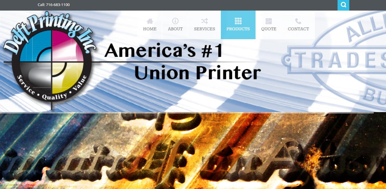 Delft Printing Web Screenshot