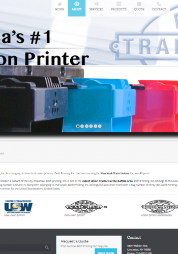 Delft Printing Web Screenshot